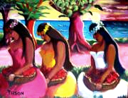 Sunset Wahine can be seen is the Hawaii Collection another oil on canvas